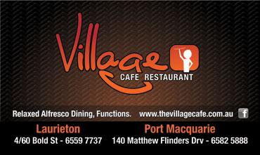 Village Cafe Card