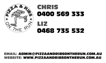 Pizza and Ribs on the Run contact details