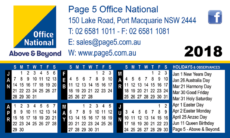 Page 5 Office National 2018 Calendar