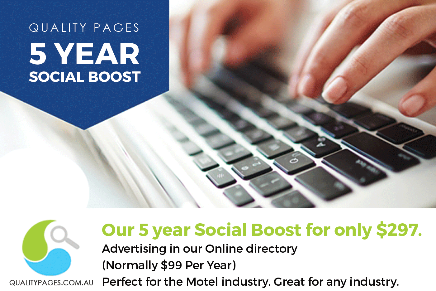Quality Pages 5 year social boost